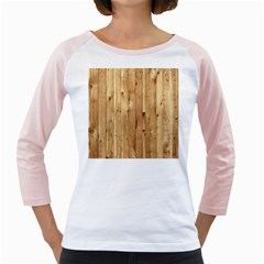 Light Wood Fence Girly Raglans