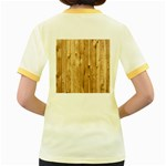 LIGHT WOOD FENCE Women s Fitted Ringer T-Shirts Back