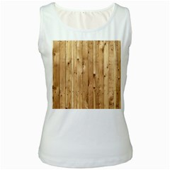 Light Wood Fence Women s Tank Tops