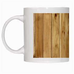 Light Wood Fence White Mugs