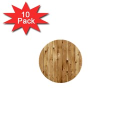 Light Wood Fence 1  Mini Buttons (10 Pack)