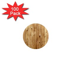 Light Wood Fence 1  Mini Magnets (100 Pack)