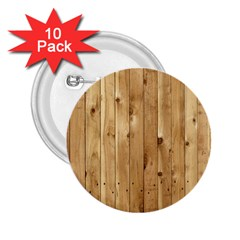 Light Wood Fence 2 25  Buttons (10 Pack)