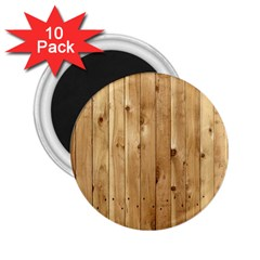 Light Wood Fence 2 25  Magnets (10 Pack)