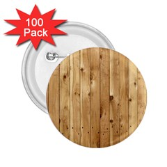 Light Wood Fence 2 25  Buttons (100 Pack)