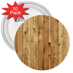 Light Wood Fence 3  Buttons (10 Pack)