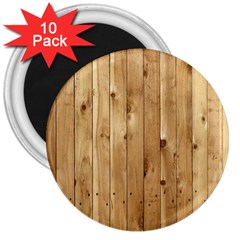 Light Wood Fence 3  Magnets (10 Pack)