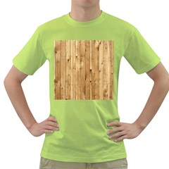 Light Wood Fence Green T Shirt