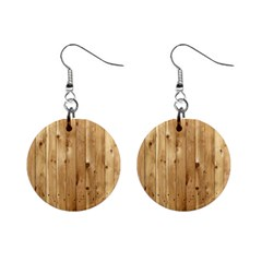 Light Wood Fence Mini Button Earrings