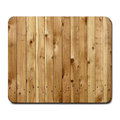 Light Wood Fence Large Mousepads