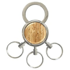 Light Wood Fence 3 Ring Key Chains