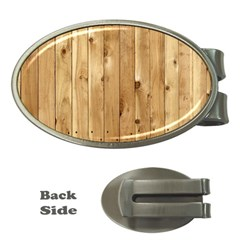 Light Wood Fence Money Clips (oval)