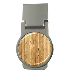 Light Wood Fence Money Clips (round)