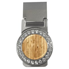 Light Wood Fence Money Clips (cz)
