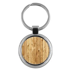 Light Wood Fence Key Chains (round)