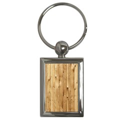 Light Wood Fence Key Chains (rectangle)