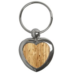 Light Wood Fence Key Chains (heart)