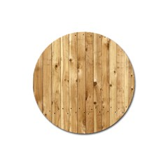 Light Wood Fence Magnet 3  (round)