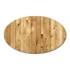 Light Wood Fence Oval Magnet