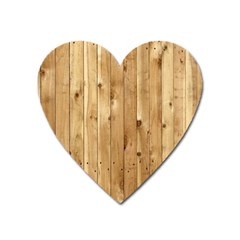 Light Wood Fence Heart Magnet