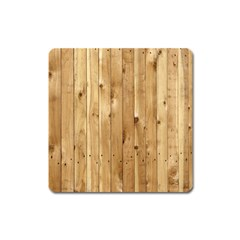 Light Wood Fence Square Magnet