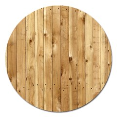 Light Wood Fence Magnet 5  (round)