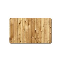 Light Wood Fence Magnet (name Card)