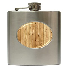 Light Wood Fence Hip Flask (6 Oz)