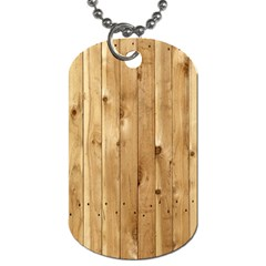 Light Wood Fence Dog Tag (two Sides)