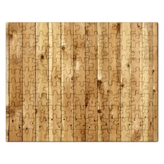 Light Wood Fence Rectangular Jigsaw Puzzl