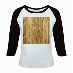 Light Wood Fence Kids Baseball Jerseys