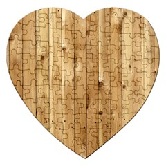 Light Wood Fence Jigsaw Puzzle (heart)