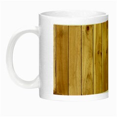 Light Wood Fence Night Luminous Mugs