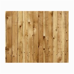Light Wood Fence Small Glasses Cloth