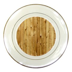 Light Wood Fence Porcelain Plates