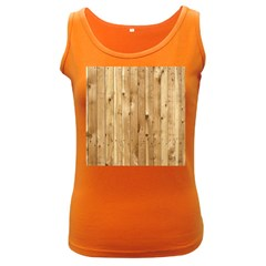 Light Wood Fence Women s Dark Tank Tops