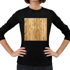 Light Wood Fence Women s Long Sleeve Dark T Shirts