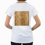 LIGHT WOOD FENCE Women s Loose-Fit T-Shirt (White) Back