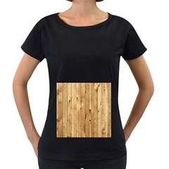 Light Wood Fence Women s Loose Fit T Shirt (black)