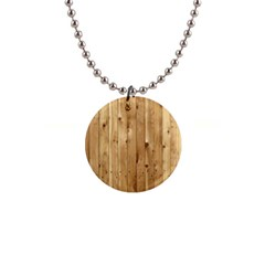 Light Wood Fence Button Necklaces