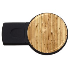 Light Wood Fence Usb Flash Drive Round (4 Gb)