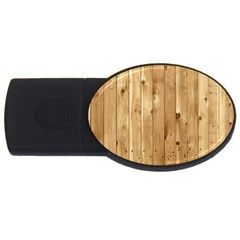 Light Wood Fence Usb Flash Drive Oval (4 Gb)