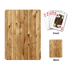 Light Wood Fence Playing Card