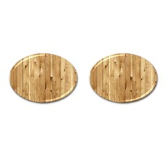 Light Wood Fence Cufflinks (oval)