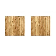Light Wood Fence Cufflinks (square)