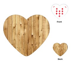 Light Wood Fence Playing Cards (heart)