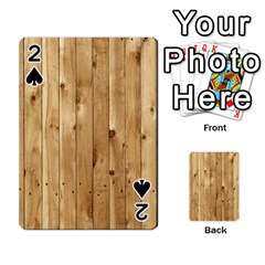 Light Wood Fence Playing Cards 54 Designs