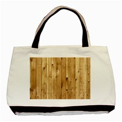 Light Wood Fence Basic Tote Bag