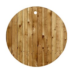 Light Wood Fence Round Ornament (two Sides)