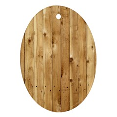 Light Wood Fence Oval Ornament (two Sides)